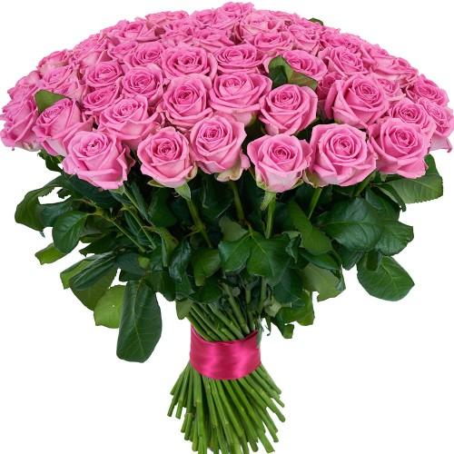 Купить на заказ Заказать Букет из 101 розовой розы с доставкой по Усть-Каменогорску с доставкой в Усть-Каменогорске