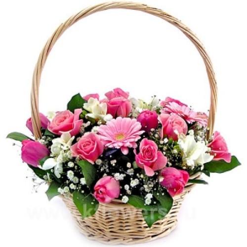 Купить на заказ Заказать Корзина с цветами 6 с доставкой по Усть-Каменогорску с доставкой в Усть-Каменогорске
