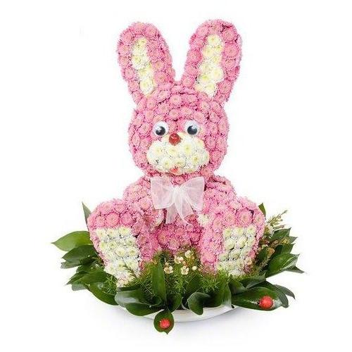 Купить на заказ Заказать Розовый зайчик с доставкой по Усть-Каменогорску с доставкой в Усть-Каменогорске