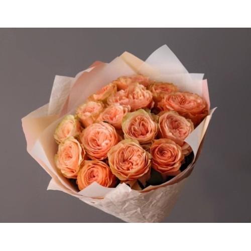 Купить на заказ Заказать 15 пионовидных роз с доставкой по Усть-Каменогорску с доставкой в Усть-Каменогорске