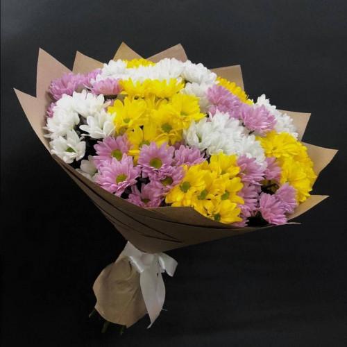 Купить на заказ Заказать 15 хризантем с доставкой по Усть-Каменогорску с доставкой в Усть-Каменогорске