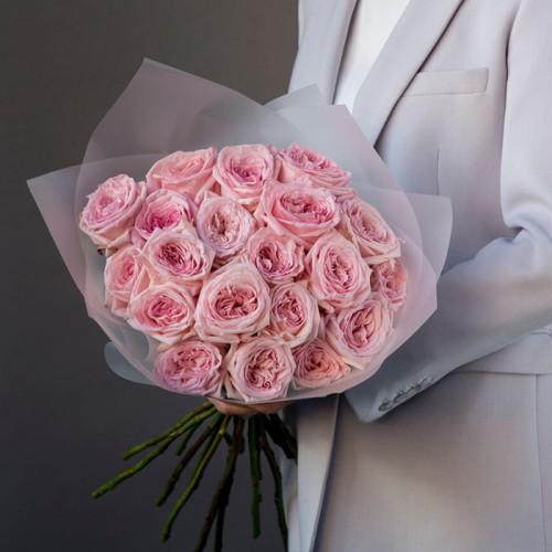 Купить на заказ Заказать 21 пионовидные розы с доставкой по Усть-Каменогорску с доставкой в Усть-Каменогорске