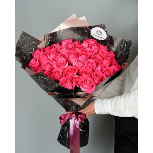 Купить на заказ Заказать Букет из 51 розовых роз с доставкой по Усть-Каменогорску с доставкой в Усть-Каменогорске