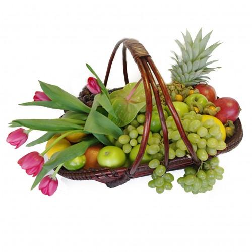Купить на заказ Заказать Корзина с фруктами 3 с доставкой по Усть-Каменогорску с доставкой в Усть-Каменогорске